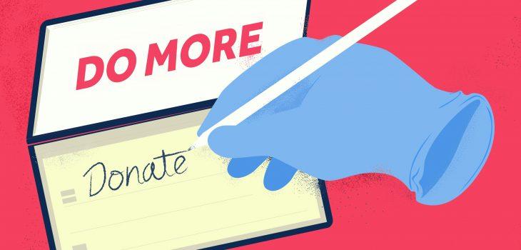 Do More Donate cheque book